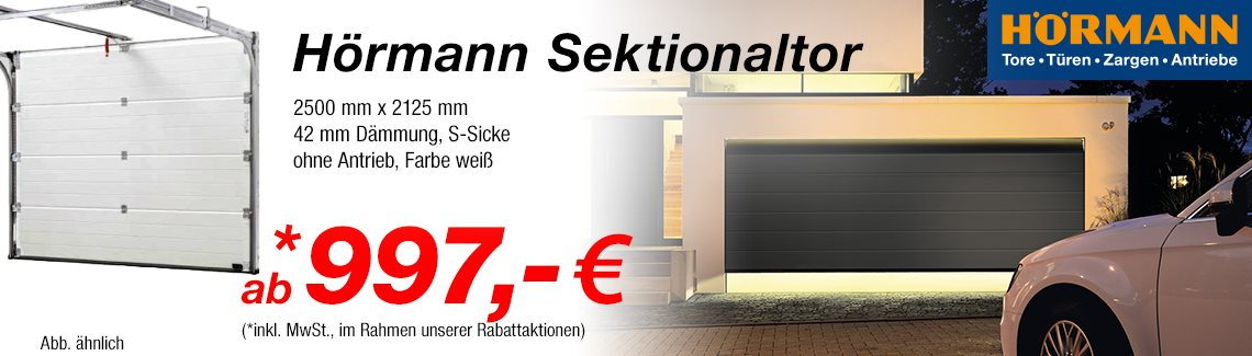 h rmann sektionaltor online bestellen preisvorteil nutzen. Black Bedroom Furniture Sets. Home Design Ideas